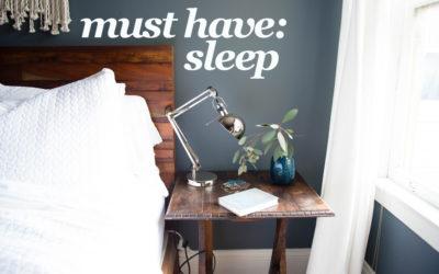 Doctors Orders: Sleep