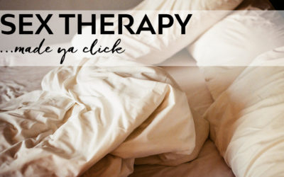 Sex therapy – yep, we're going there.